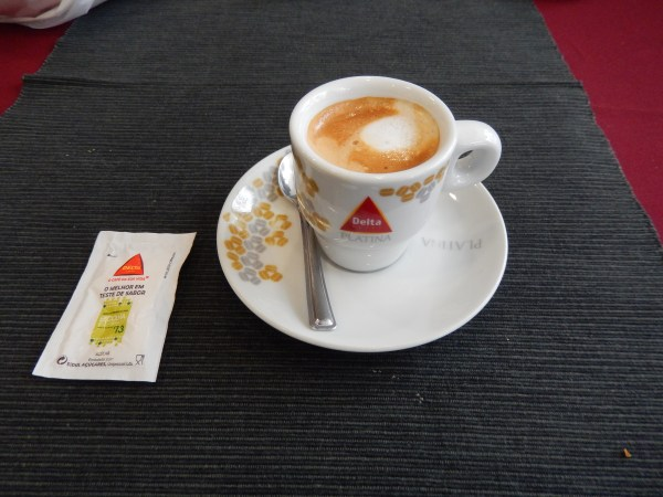 My first Portuguese cup of coffee