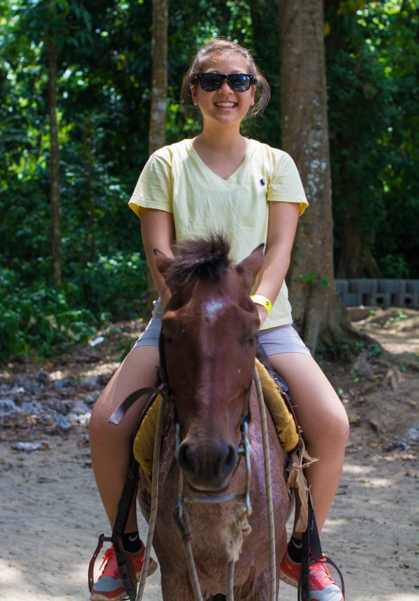 "Horsin' Around - Riding ""Mantequilla"" (""Butter"" in English), is my friend Jane. You can choose to either ride solo or with someone to help you."