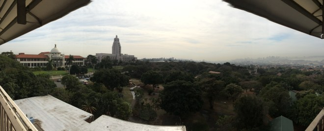 Panoramic view of my school, Howard College at the University of KwaZulu Natal.
