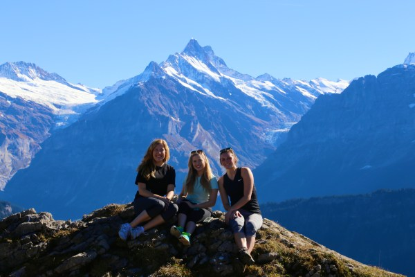 The three of us on top of Schynige Platte.