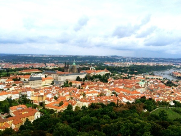 The view from the Petrin observation tower.