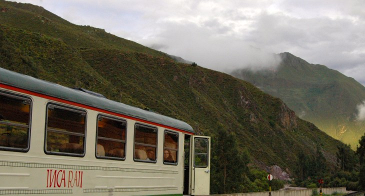 The journey to Machu Picchu starts on a train, like all wondrous journeys do.