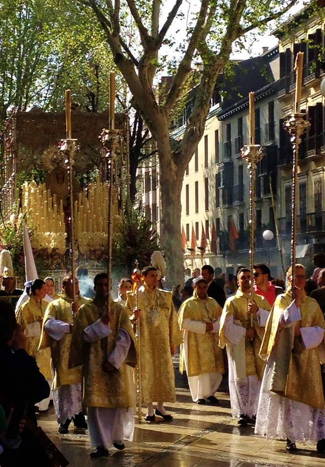 The processions on Easter Sunday were particularly beautiful.