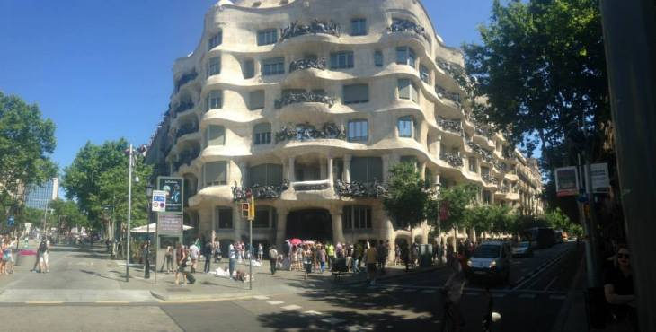 Walking down the streets of Barcelona, you will be able to see and admire the architecture of Antoni Gaudi.