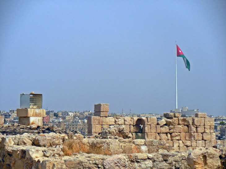 A view from the Citadel, featuring one of the largest flags in the world!