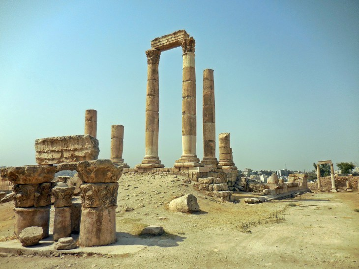 A view of Hercules' Temple