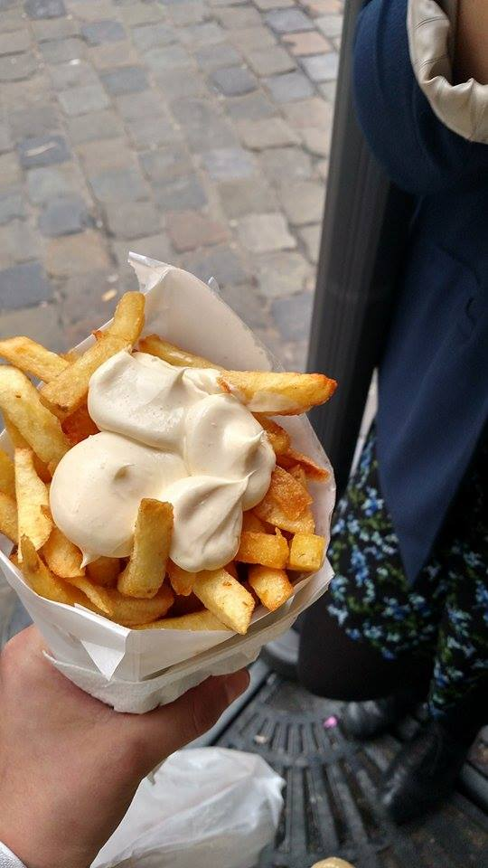 The Belgian Fries are a very popular snack in Brussels.