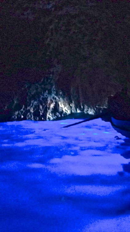Inside the Blue Grotto!