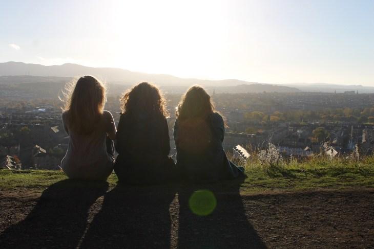 Girls Overlooking, Edinburgh, Scotland, UK, Conwell-Photo 3