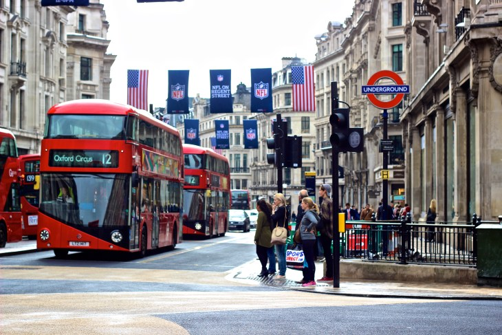 While walking to the Old Bank Of England, soak in the sights of double decker buses, Underground Station signs, and the hustle and bustle that is London.