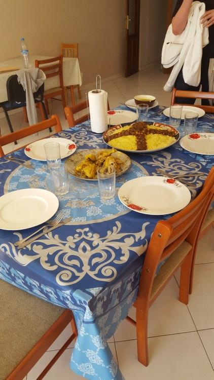 A delicious Moroccan meal