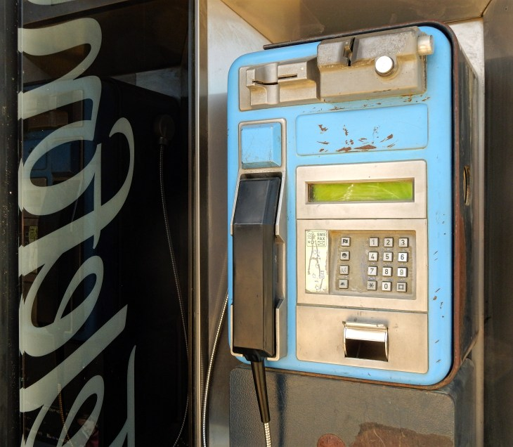 It's nice that there are still payphones to use to call your host mom when you don't yet have a local phone number.