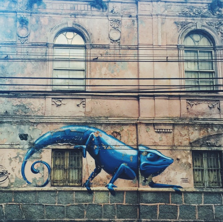 These chameleons riddle the city, even reviving old abandoned buildings to make them look alive again