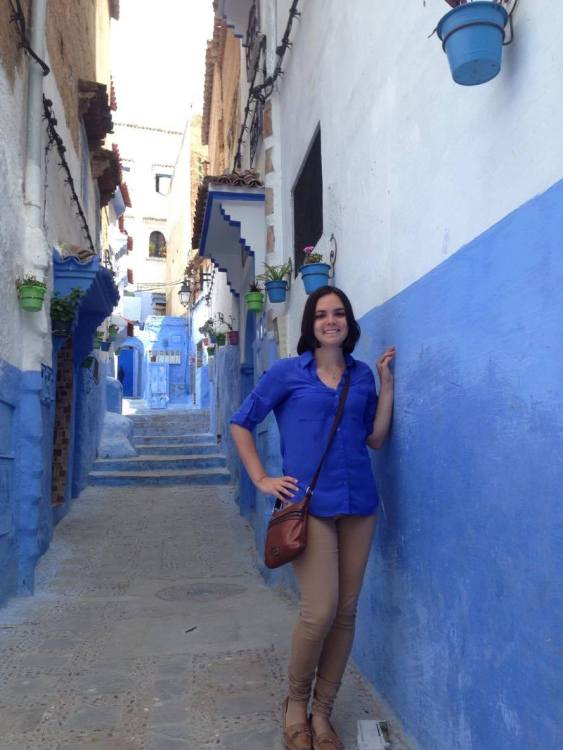 "Although studying abroad might not have changed me, I did try to camouflage one day while exploring the ""Blue City"" better known as Chefchaouen."