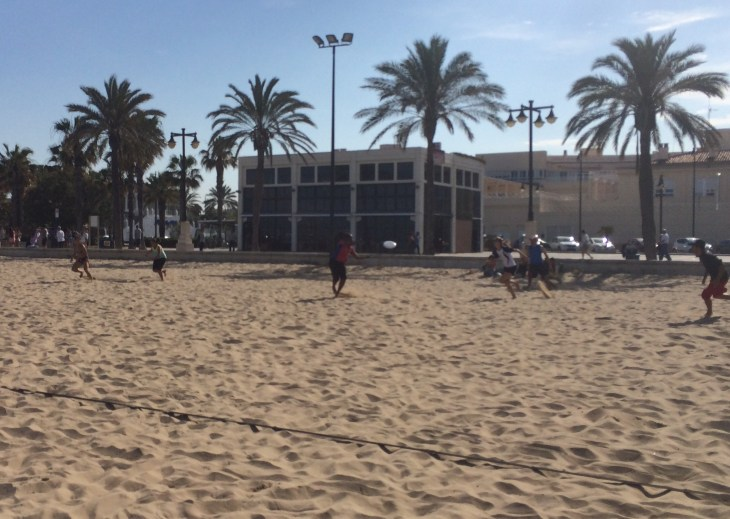 Friday evening game with Murciélagos Ultimate Valencia team.