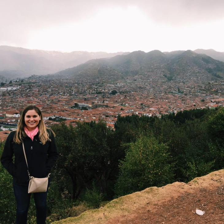 That's me with the view of Cusco from Sacsayhuaman!