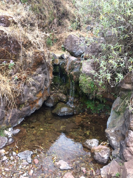 A shot of a small waterfall on the path down to HuchuyQosqo. Bring your best shoes; it's a long walk to the bottom.
