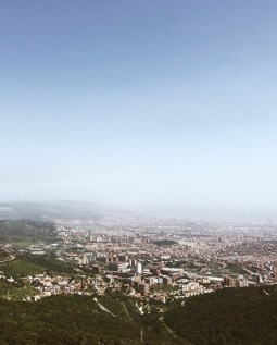 The view from atop Mt. Tibidabo in Barcelona, Spain