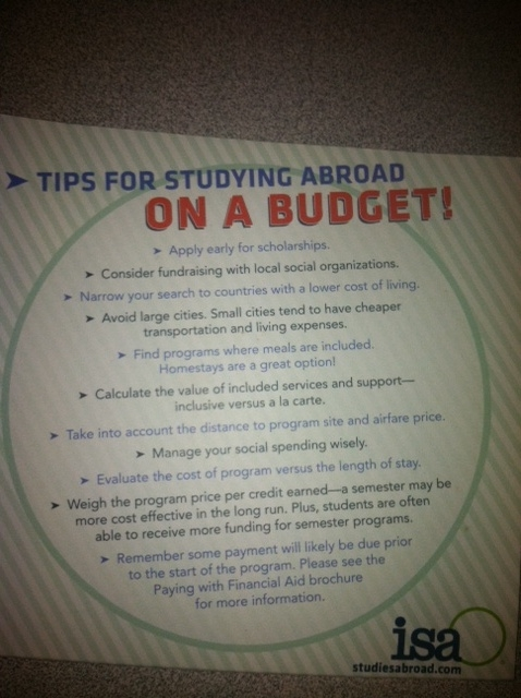 study abroad on a budget