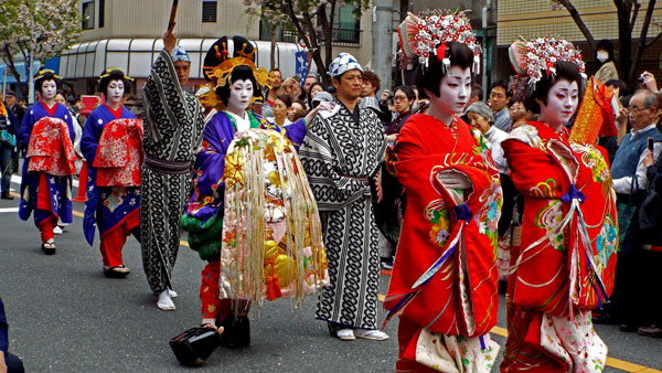 Parade in Tokyo, Japan.