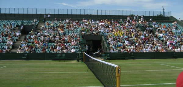 Court side seats at Wimbledon