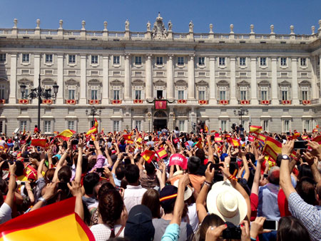 Coronation Day in Spain