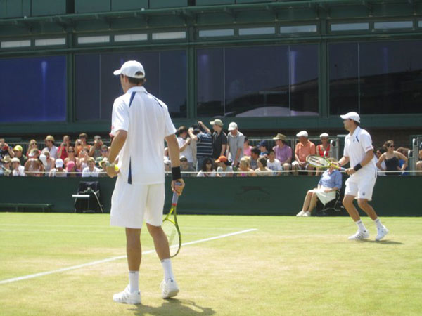 Wimbledon match play -Bryan Brothers