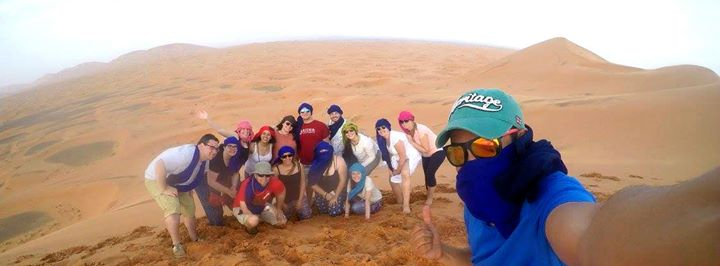 Rider Morocco desert