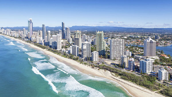 The Gold Coast skyline.