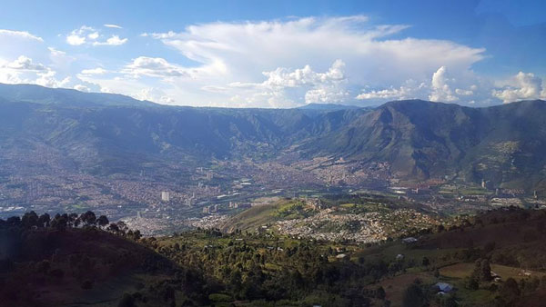 Landscape of ISA's new study abroad program in Medellin, Colombia.