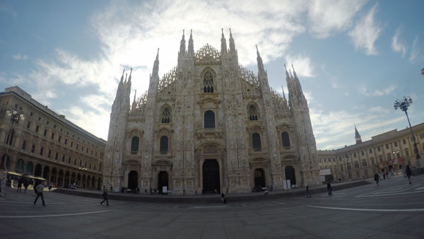 Milan Cathedral in Milan, Italy.