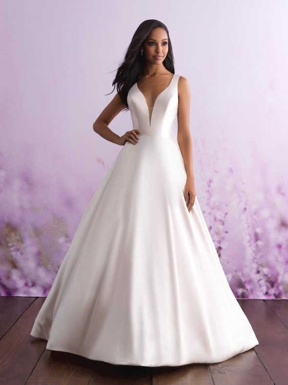 Allure Romance 2018 simple satin wedding dress