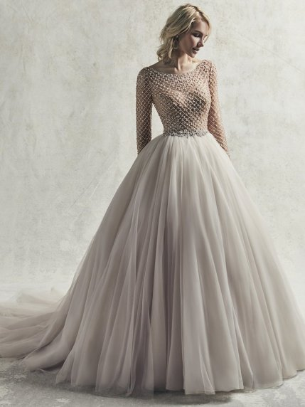 ballgown wedding dress with gold details for fall sottero and midgley fitzgerald studio i do virginia beach