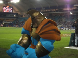 The Gold Coast Titans' Mascot