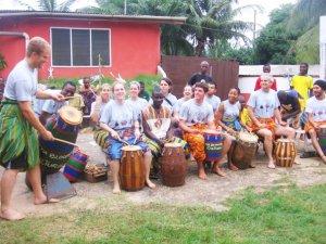 Drumming in Ghana