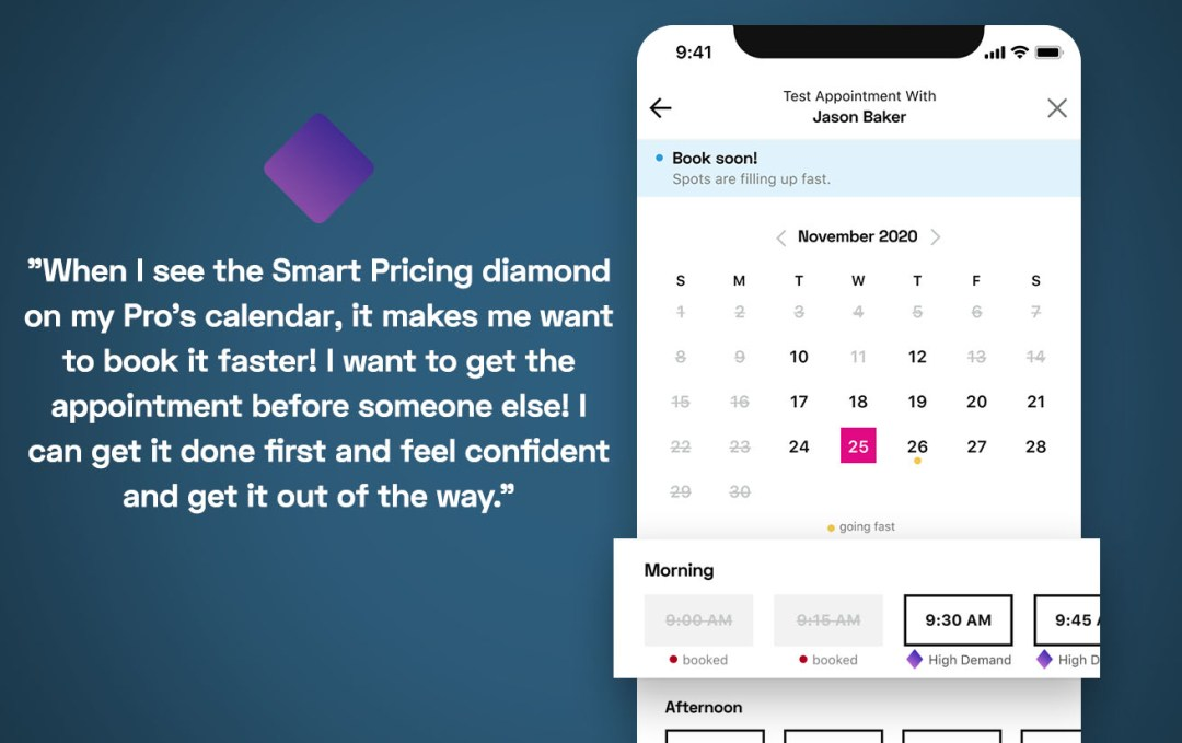 StyleSeat Client testimonial on why they love Smart Pricing