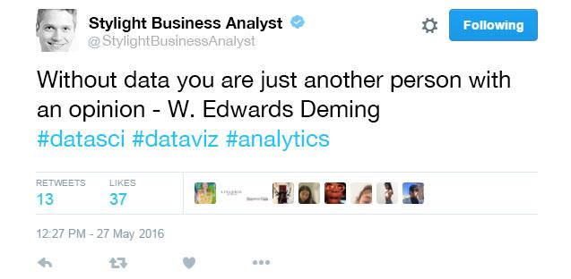Under the Desk - Business Analyst - Tweet
