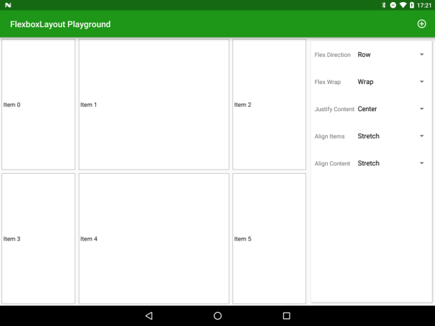 FlexboxLayout – Part 3 – Styling Android