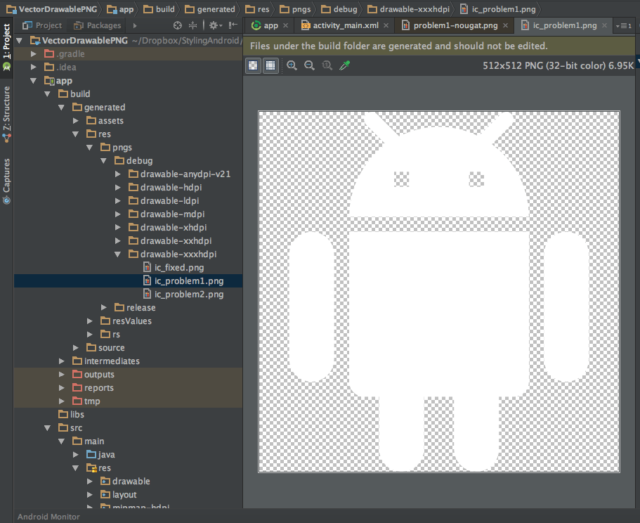 convert png to xml android studio