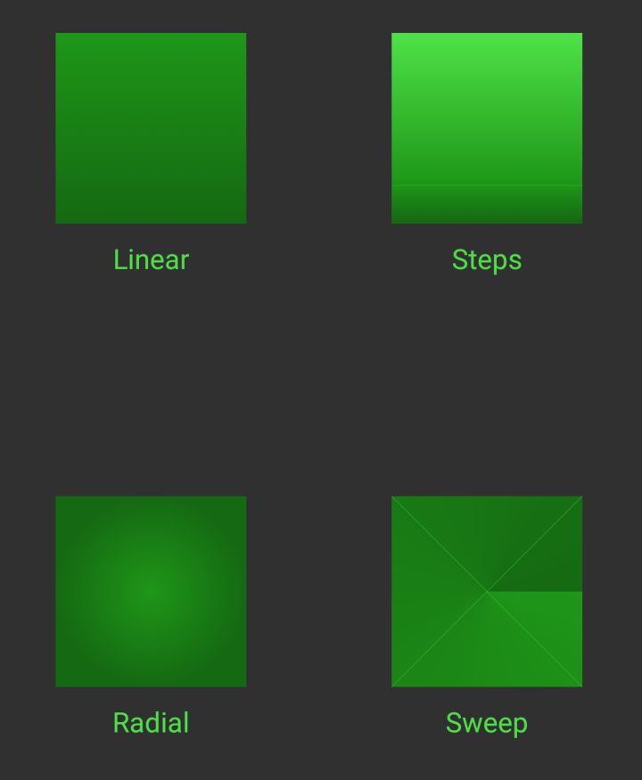 - all gradients - VectorDrawable Gradients – Part2 – Styling Android