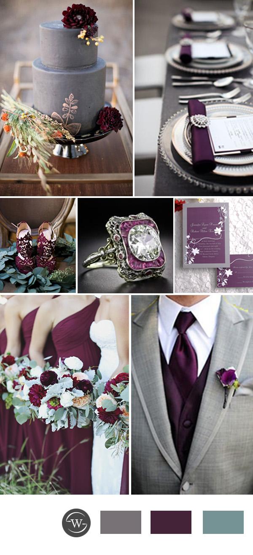 Top 10 Perfect Grey Wedding Color Combination Ideas For