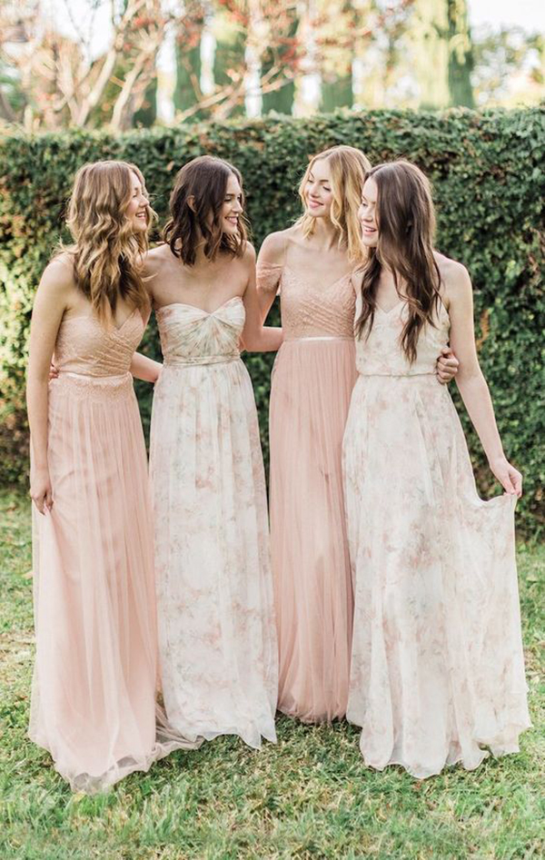 simple bridesmaid dresses in sweetheart