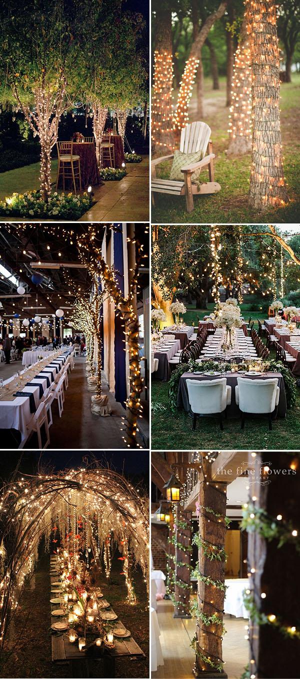 30 Stunning And Creative String Lights Wedding Decor Ideas