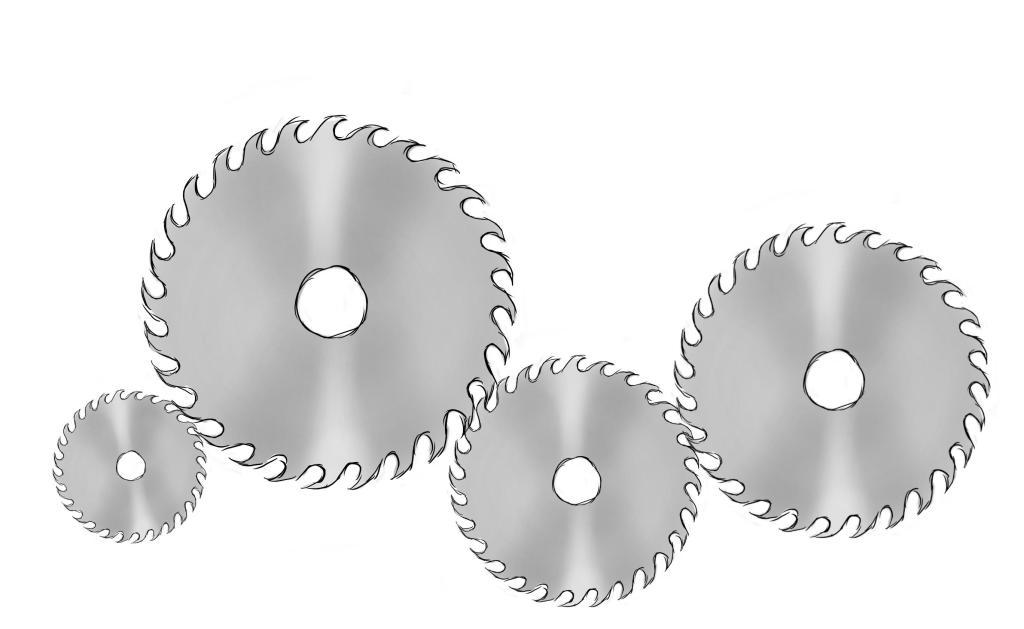 Saw blades as gears