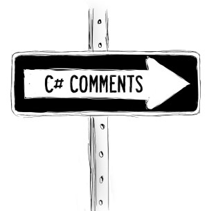 C_sharp_comments_sign_with_arrow