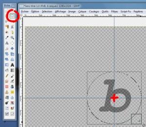 Réaliser un cercle centré à l'aide de l'outil de sélection elliptique