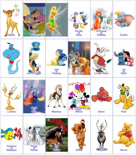 « Qui est-ce ? » Disney avec des duos
