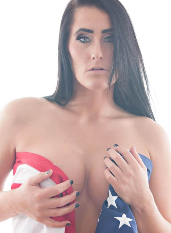 Professional head shot of Kylee Jade a professional glamour model