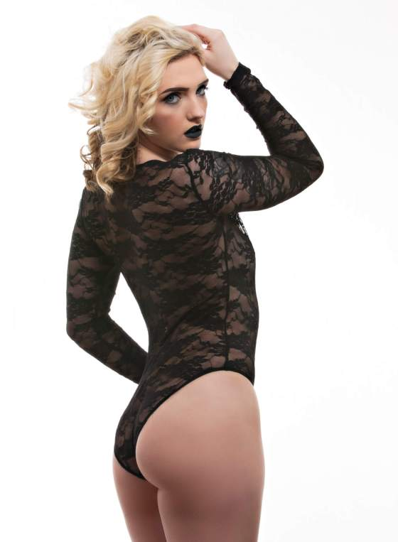 Black body suit with Gavy
